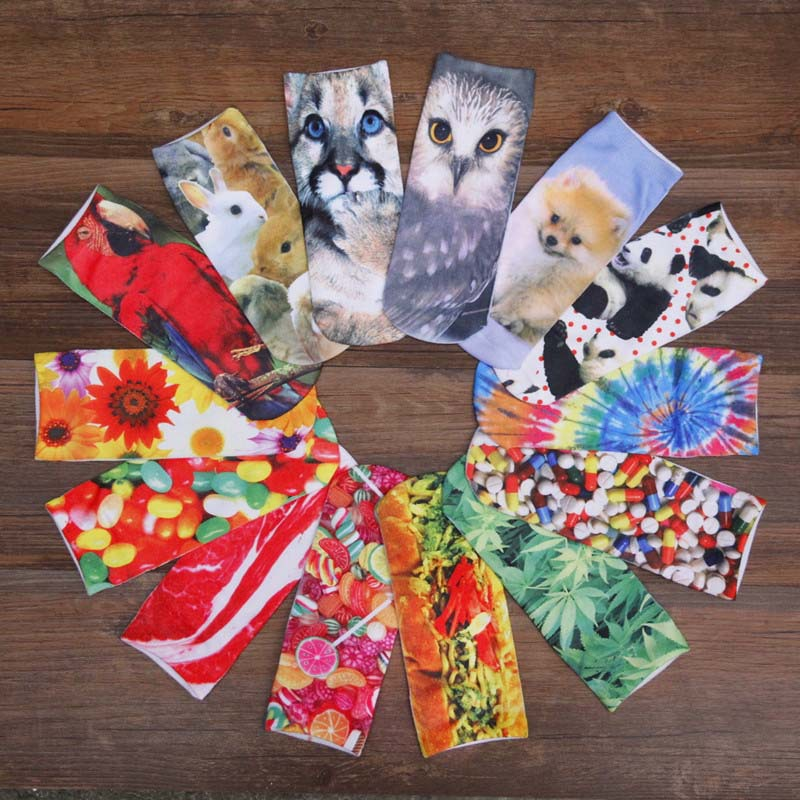 Гаджет  Harajuku Cute Short Socks Women 3D Print Animal Sock Casual Unisex Cartoon Low Cut Ankle Socks Calcetines Mujer E10086 None Одежда и аксессуары