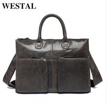 Buy WESTAL Genuine Leather Bag Casual Handbags Cowhide Men Crossbody Bags Men's Travel Bags Tote Laptop Briefcases Men's Bag L502 for $43.41 in AliExpress store