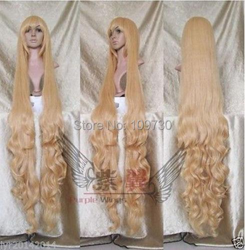 jj 0011450 New Fashion 150 cm long curls wig blond + gift<br><br>Aliexpress