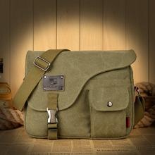 Squirrel fashion vogue casual canvas pattern brand denim men messenger bag briefcase versatile business male vintage
