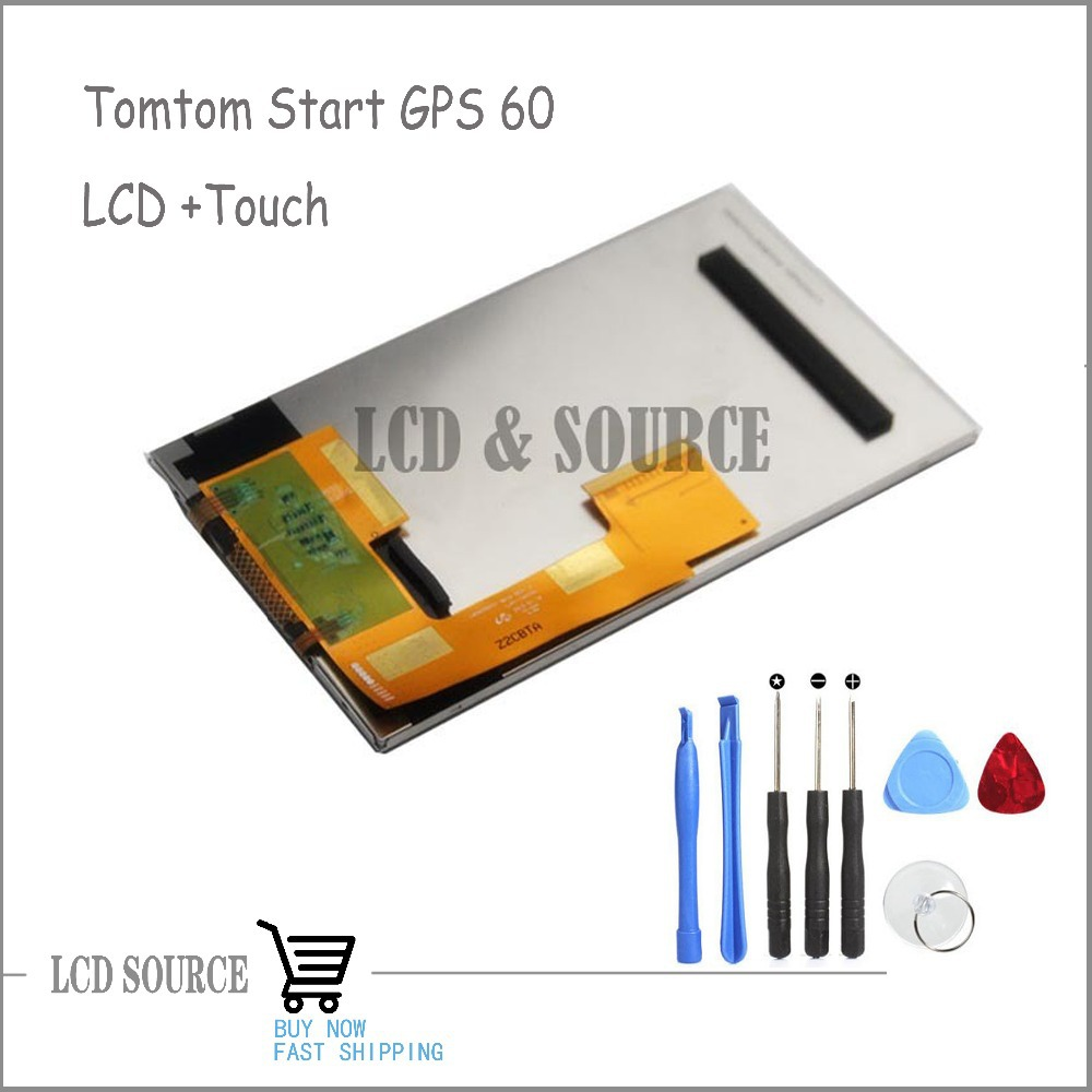 6'' full LCD display with touch screen digitizer for tomtom start 60 gps navigation(China (Mainland))