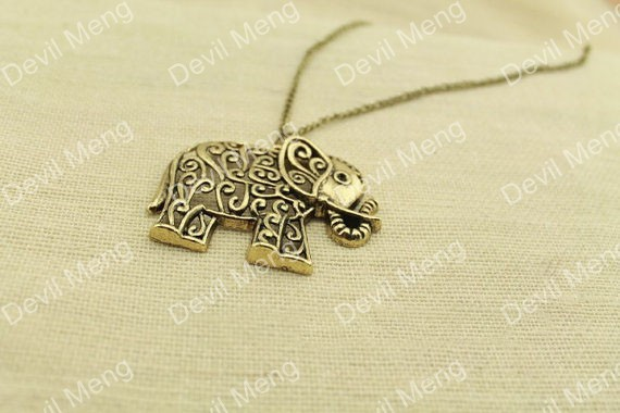 20pcs/lot Animal Elephant Charm Nacklace Pendants in Copper tone Jewelry for Gift(China (Mainland))