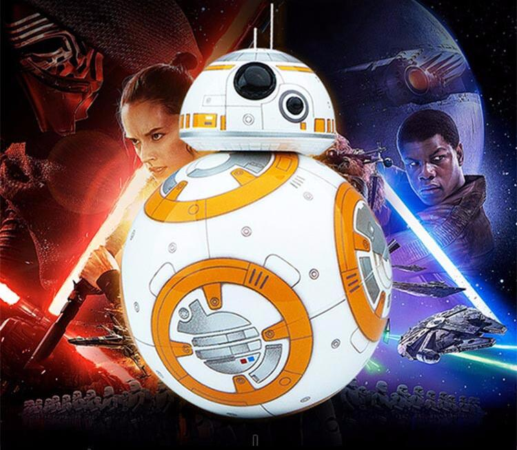 Remote control robot BB-8 Star Wars 7:The Force Awakens BB8 Driod can move and make sound likes in the movie(China (Mainland))