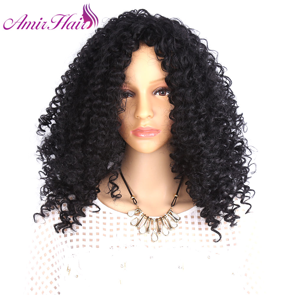 Straight perm thin hair - Amir Hair Afro Kinky Curly Wig Natural Black Hair African American Synthetic Wigs For Black Women Download Image Japanese Straight Perm