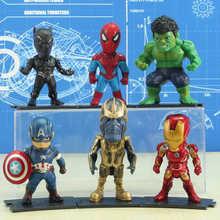 Maravilha Figura de Ação Avengers Thor Hulk Homem De Ferro Homem Aranha Thanos Captian América Pantera Negra Carro Collectible Toy Modelo(China)