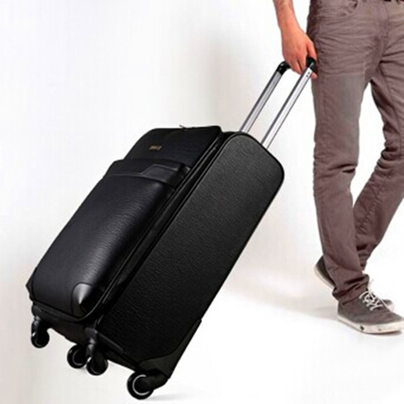 Здесь можно купить  2015 new cowhide leather suitcase caster trolley luggage board chassis business men and women 16 28-inch suitcase sub password  Камера и Сумки