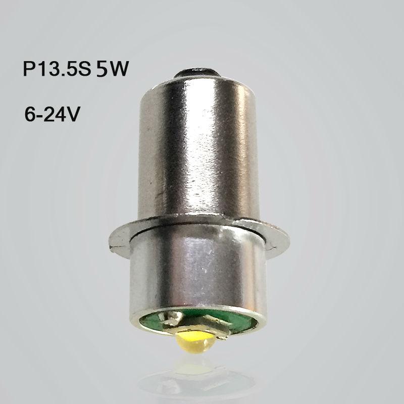 1/2 piece P13.5S CREE XPG2 5W flashlight bulb emergency light bulbs 3v dc4-10v/6-24v Led Bulb replacement flashlight bulb(China (Mainland))