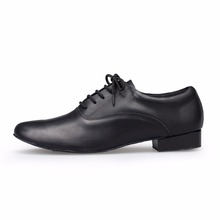 Men Genuine Leather Dance Shoes Men Heel High 2.5cm Tango Latin Ballroom Salsa Jazz Dance Shoes Plus Size Men Soft Modern Shoes(China (Mainland))