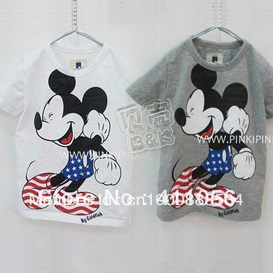 New  Mikey Mouse Baby T-shirt Summer Tee for Boys Girls