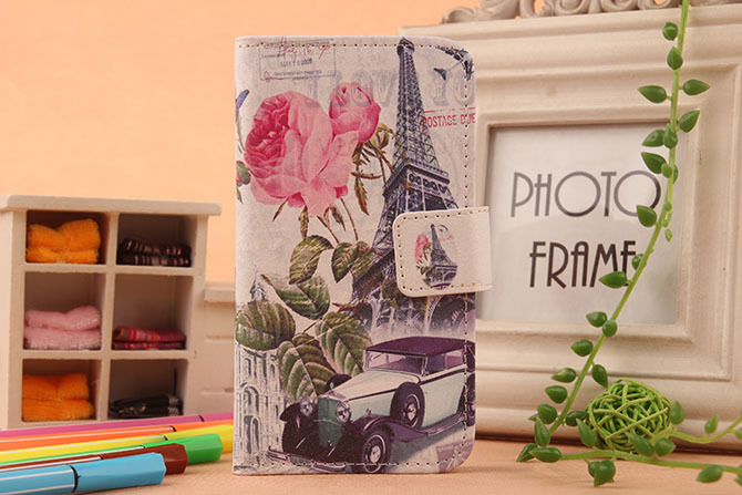 Hot Book Style Cartoon Stand Flip Cover For LG t370 T375 T385 t395 Skin Pouch 1X Drawing Design PU Leather Case Phone Case(China (Mainland))