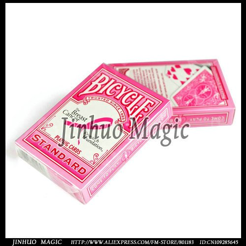 Free shipping,Breast cancer bicycle playing card magic tricks-12pcs/lot-for magic card wholesales<br><br>Aliexpress