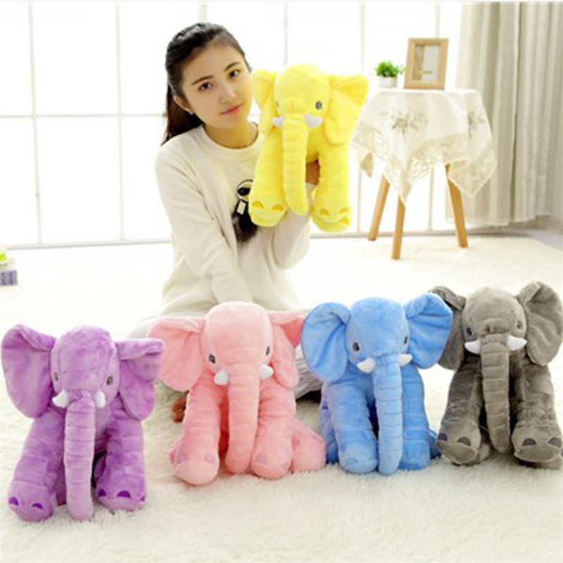1pcs 40CM Baby Elephant Plush Cute Gray Elephant Plush Toy With Long Nose Pillows PP Cotton Stuffed Baby Soft Elephants Toys(China (Mainland))