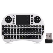 Russian English Version 2.4G Mini USB Wireless Keyboard Touchpad Air Mouse Fly Mouse Remote Control for Android TV BOX Mini PC(China (Mainland))