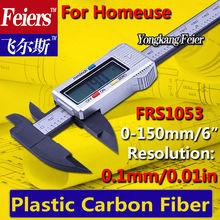Envío gratis 0 – 150 mm Digital Electronic Vernier Caliper / LCD micrómetro / carbon fiber composite Digital solar de tuberías