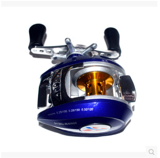 Genuine blue road sub-droplets round fishing vessel fishing gear, all-metal axle right hand supplies special offer free shipping(China (Mainland))