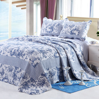 2015 hot sell 100%cotton bedspread classical design quilt