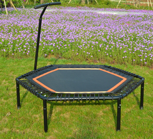 Hexagonal Jumping fitness trampoline with handtrail(China (Mainland))