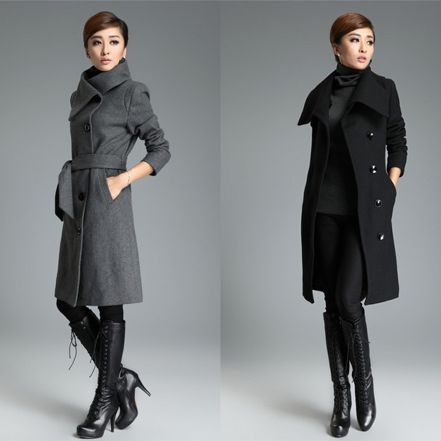 Black Long Coats For Women