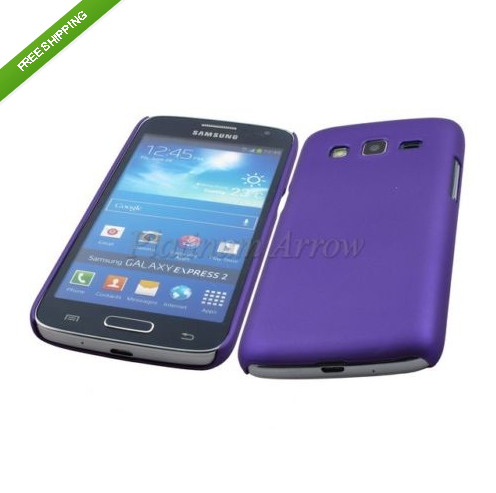 Purple Hard Plastic Back Cover Case for Samsung Galaxy Express 2 G3815(China (Mainland))