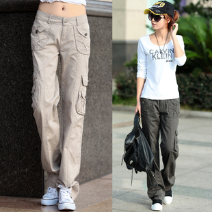 khaki-cargo-pants-women-Women-s-multi-pocket-overalls-2013-summer-loose-casual-sports-pants-female.jpg