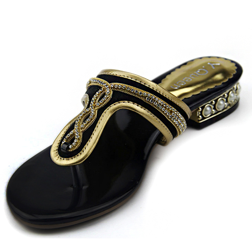 [Y.Queen] women shoes new style big size 36~43 Flat slippers, Rhinestone Shoes,slippers sandals - suiwen liu's store