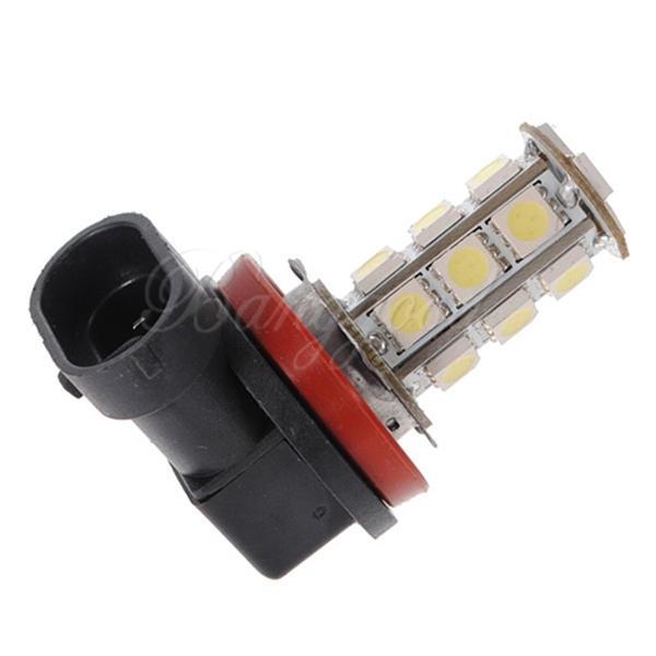White H11 H8 18 LED 5050 SMD Car Auto Day Driving Fog Lights Headlight Lamp Bulb