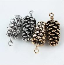 Buy New Style Alloy Ancient gold/silver tone Cartoon Pine cones Shape metal Pendants Charms diy Jewelry making for $21.99 in AliExpress store