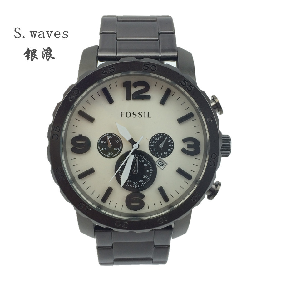 S waves Wristwatch Quartz Watch Date DZ American Men Stainless steel fossiler Casual Fashion Army table