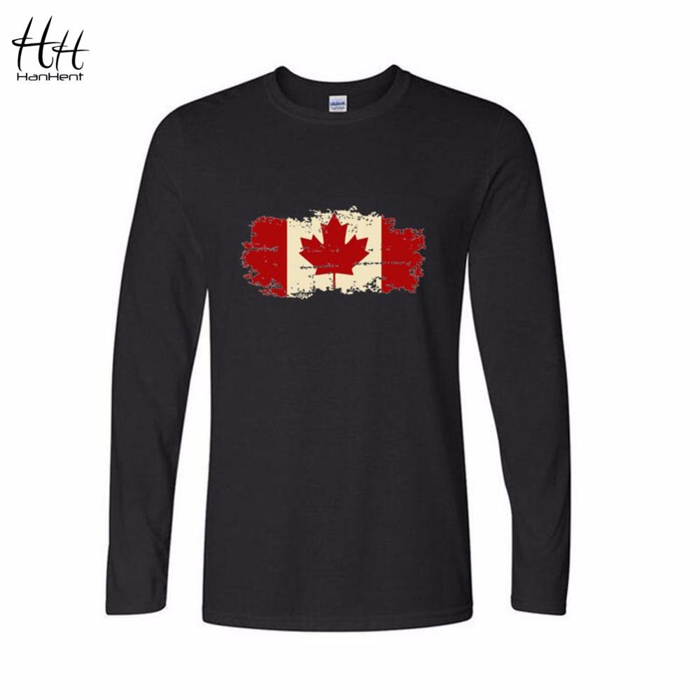 hanhent canada flag canadian leaf new long sleeve t shirt