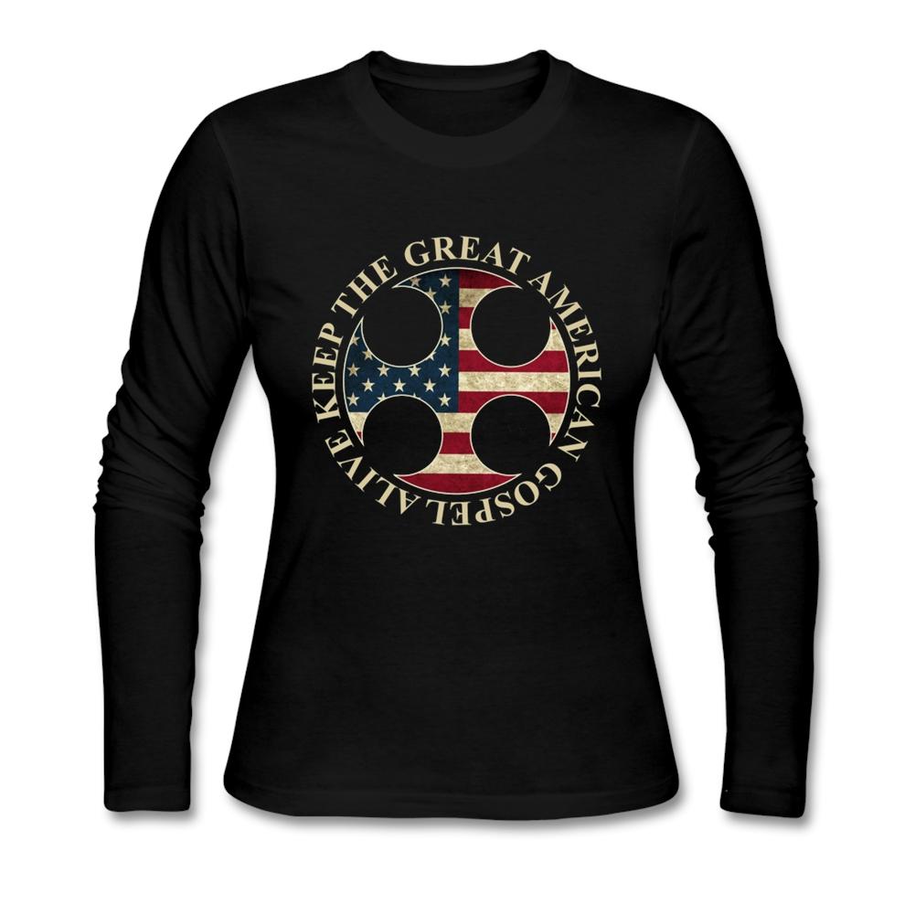 Long Sleeve} T-shirt Woman's Customized american gospel T Shirt Women's Shirt 100% Cotton Clothes Top(China (Mainland))