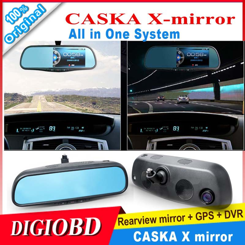720P HD 5'' LCD CASKA X mirror Rear view Camera GPS+DVR+Rearview mirror+HDMI+Bluetooth/wifi Motion Impact Recorder+Night Vision(China (Mainland))
