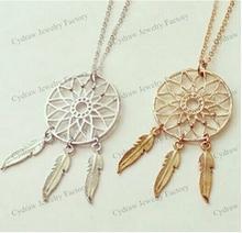 1 pcs free shipping Newest Designer Luxury Classic DreamCatcher necklace Trendy Women Jewelry Dream Catcher necklace