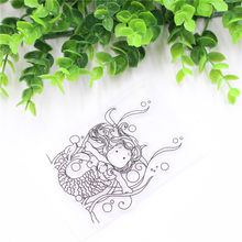 Lovely Girl Transparent Clear Stamp DIY Silicone Seals Scrapbooking/Card Making/Photo Album Decoration(China)