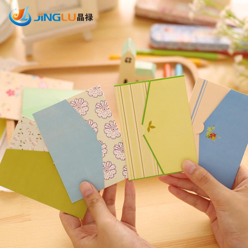 Гаджет  6 Pcs / Set Sweet Country Style Creative Little Envelope Design Universal Cards  Greeting Cards Wholesales None Офисные и Школьные принадлежности
