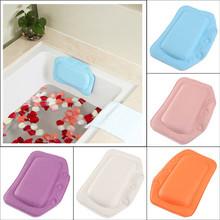 1Pcs/Lot Wholesale PVC Foam Soft Plain Bath Spa Pillow Comfortable Relax With Suction Cups Waterproof 21*31cm(China (Mainland))