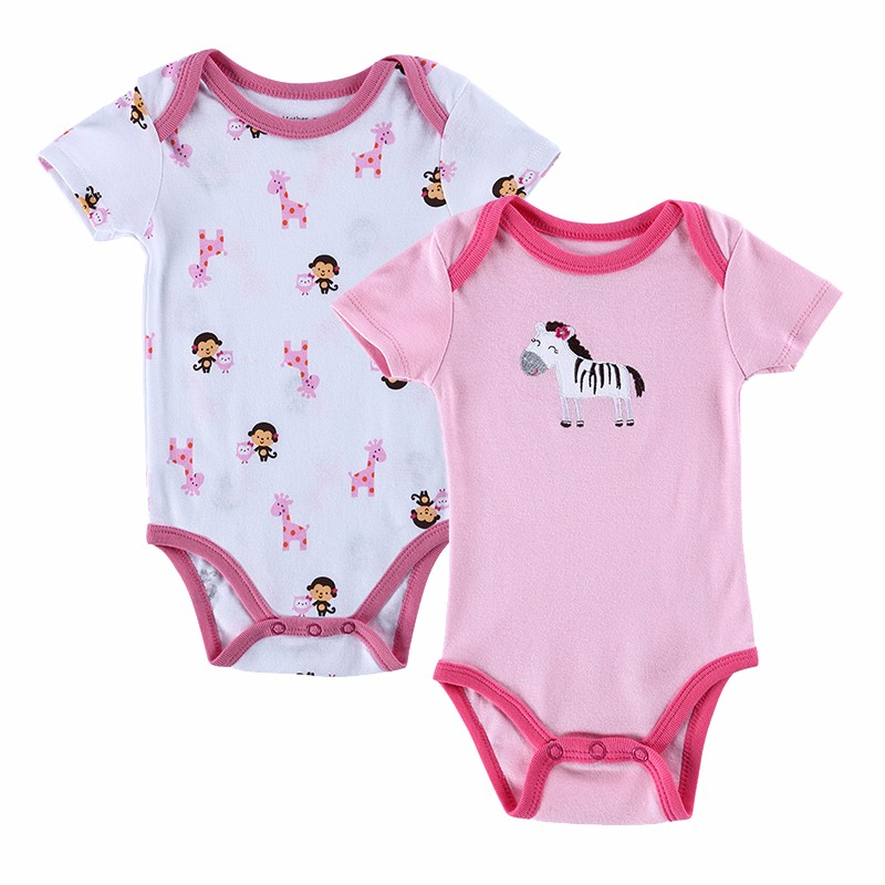 2 PCSLOT 2016 Fashion High Quality Baby Romper Boy & Girl Cartoon Animal 0-12M Jumpsuit Ropa Bebe Body Suit Baby Clothes Romper (13)