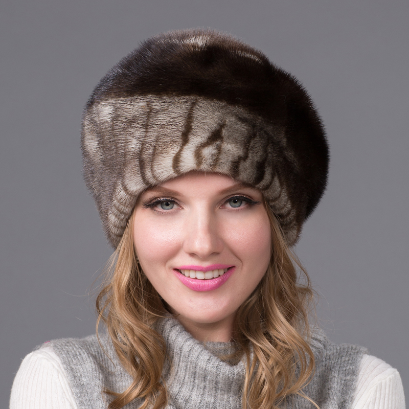 Фотография Whole skin mink fur hat fashion warm elegant ladies mink hat in Europe and America