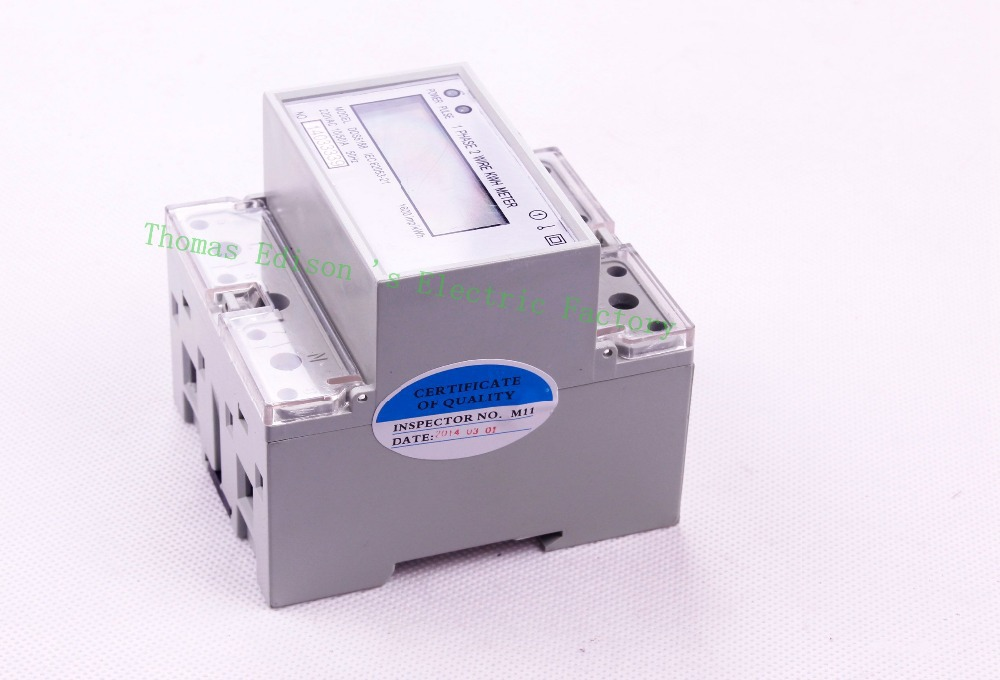 Din rail single phase KWH meter energy meter digital watt 5(20) 10(30) 15(90) 20(100) 5(40) 5(100) 10(50)A 50HZ 60HZ 220V 230V<br><br>Aliexpress