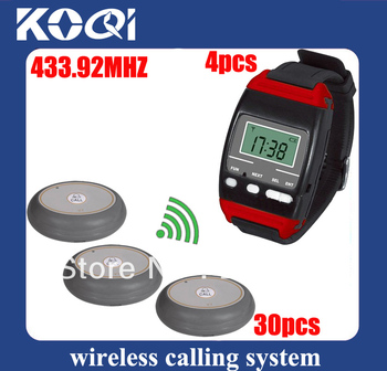433.92mhz nurse call system hospital 4 hospital watch pagers for nurse and 30 nurse calls Free shipping free by EMS/DHL