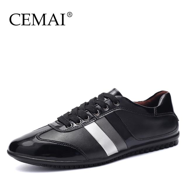 Г-н Мир Моды Натуральная Кожа Мужчины Повседневная Обувь, качество Бренд Мужская ...