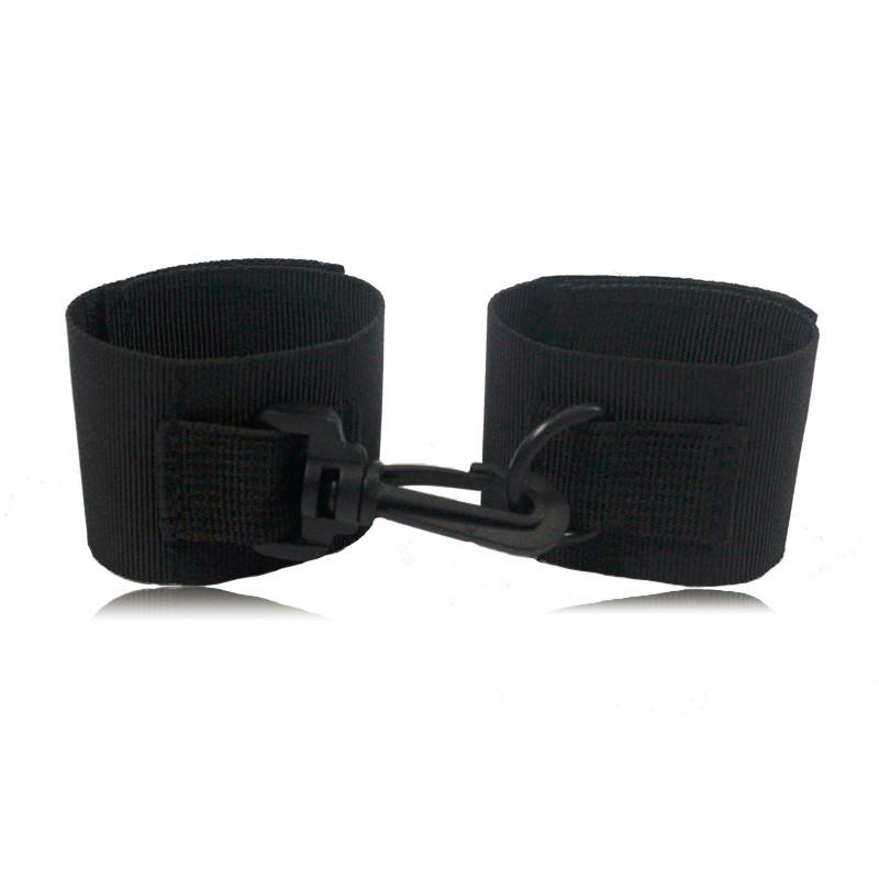 Adult games sex toys for couple handcuffs bondage restraint Fetish kit Black nylon sex restraint fixed