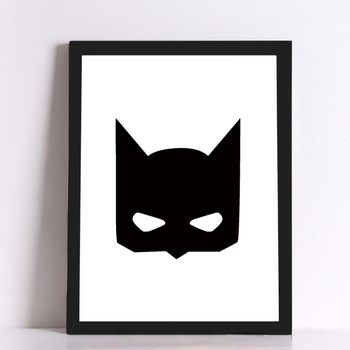 Batman Mask Canvas Art Print Poster, Wall Pictures for Home Decoration, Wall Decor FA246-1