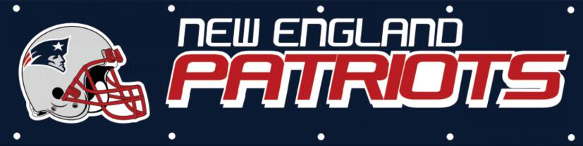New England Patriots Tailgate Banner Flag 8X2FT Custom Flag 110g knitted polyester(China (Mainland))