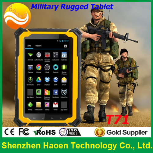 Free Shipping New Products 3G Cellular GSM Military T71 Tablet PC IP67 Waterproof Rugged Single Sim Tablet Phone With GPS NFC(China (Mainland))