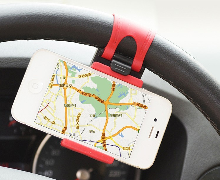 Universal Car Steering Wheel Mount Holder Rubber Band For iPhone iPod MP4 GPS keeper car parts car accessory(China (Mainland))