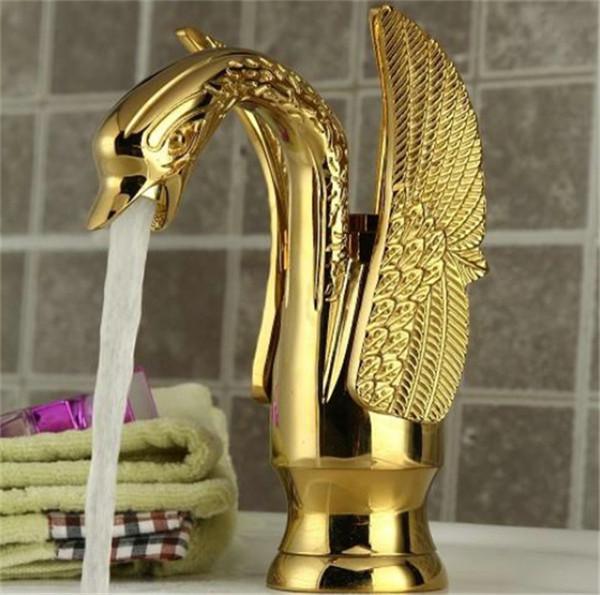 Ba o cisne grifo del ganso de oro acabado nico cascada for Grifo en cascada