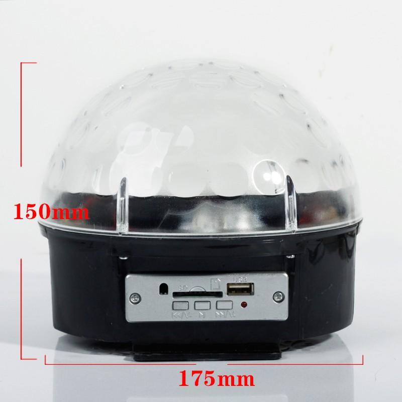 Купить ЕС/США Led 6*3 Вт 6-канальный DMX512 Управления Цифровой СВЕТОДИОДНЫЙ DJ RGB Кристалл Magic Ball Световой эффект DMX Диско DJ свет Этапа лазера Mp3