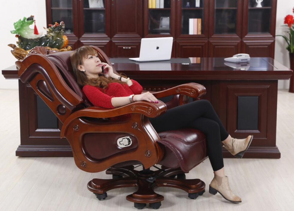 Achetez en gros v ritable chaise de bureau en cuir en for Chaise de bureau bureau en gros