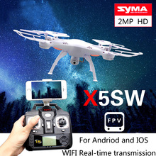 Drone Syma X5SW professional drone WIFI FPV RC quadcopter with camera HD 2.4G 4CH FPV drone with camera HD RC helicopter drone