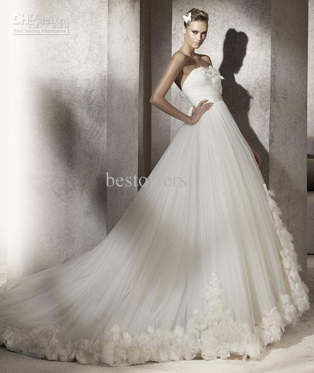 Best selling white sweetheart embroidery organza style for Sell your wedding dress for free